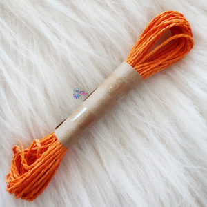 Orange Colour  Paper threads Approx 8grams for Diy Crafts - Utopian Craftsmen
