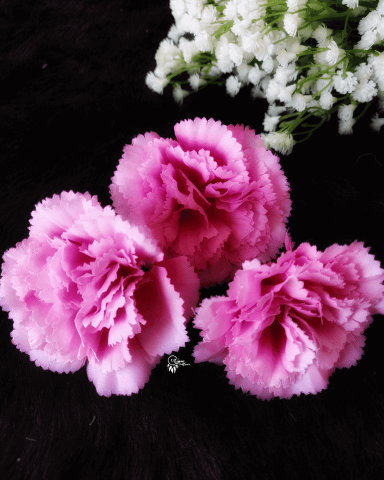 Pink Colour Carnation Artificial Flowers online for Crafts, Home Decor and Wedding Decor