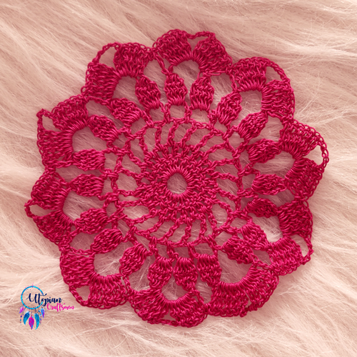 Handmade 5 inches Pink Crochet Doilies - Mercerised Cotton - Utopian Craftsmen