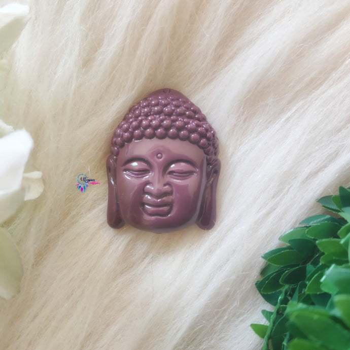 Purple Colour Buddha Shape Acrylic Beads 2 inches by 1.5 inches - Utopian Craftsmen