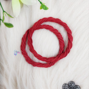 PREBOOKING - Set of 2 Rope Wreath Rings 3.5 inches Circular - Red Colour - Utopian Craftsmen