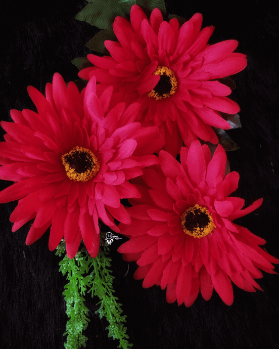 Red Colour Gerbera Artificial Flowers online for Crafts, Home Decor and Wedding Decor