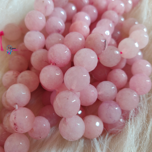 Rock Pink Colour Round Agate Beads string - 12mm (30+ Beads) - Utopian Craftsmen