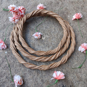 Set of 3 Rope Wreath Rings,  6,7 & 8 inches Circular - Natural Brown Colour