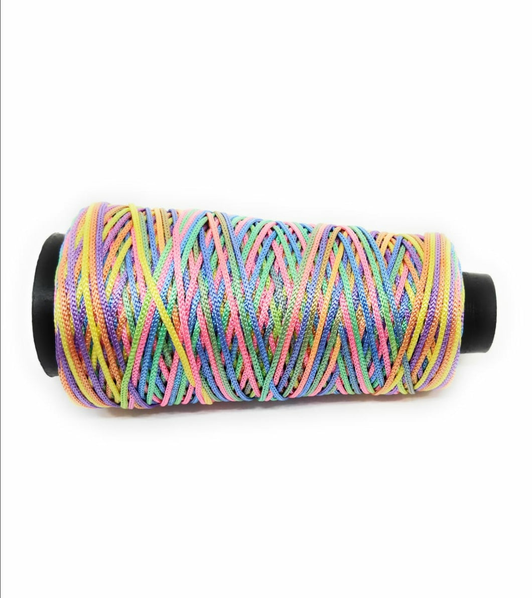 Pastel Multicolour Cone Thread for Weaving & Knitting - Approx 125 metres.