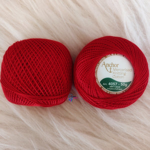 Shade 0046 Mercerised Knitting Cotton Crochet Thread Balls (50 Grams) - Anchor