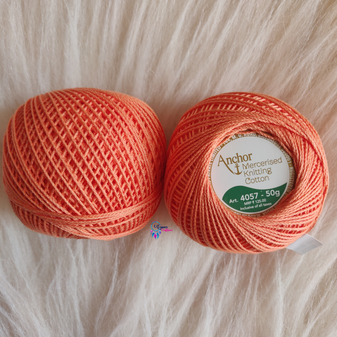 Shade 0328 Mercerised Knitting Cotton Crochet Thread Balls (50 Grams) - Anchor