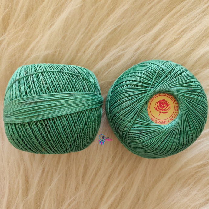 Shade no 521 Sea Green Colour Mercer-Crochet Thread Balls (100Grams) - Red Rose