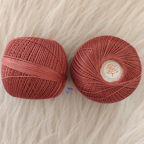 English Pink Colour Mercer-Crochet Thread Balls (100Grams) - Red Rose