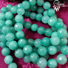 Shaded Green Round Agate Beads string - 8mm (Approx. 45 Pieces) - Utopian Craftsmen