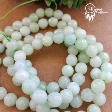 Shaded Lime Green Round Agate Beads string - 8mm (Approx. 45 Pieces) - Utopian Craftsmen