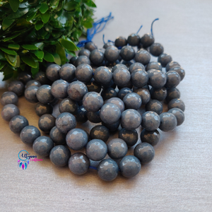 Shaded blue Colour Round Agate Beads string - 10mm (Approx. 38 Beads) - Utopian Craftsmen