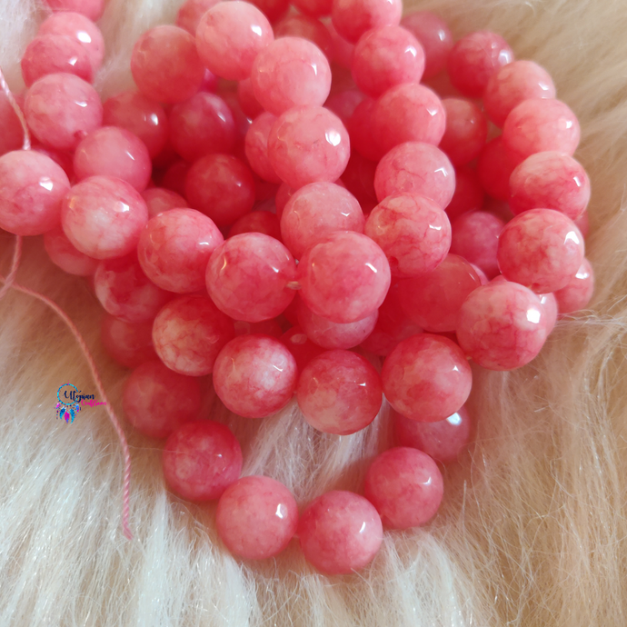 Shade of Pink Colour Round Agate Beads string - 12mm (30+ Beads)