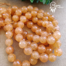Transparent Shaded Orange Round Agate Beads string - 8mm (Approx. 45 Pieces) - Utopian Craftsmen