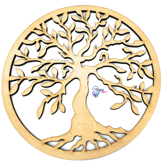 Buy online tree of life/knowledge embellishment wooden cutout for DIY Craft | Utopian Craftsmen