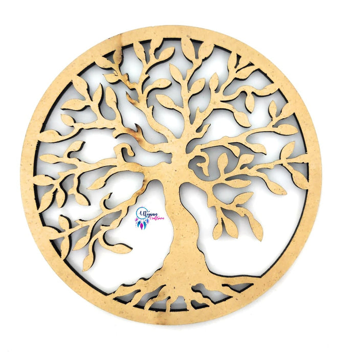 Buy online tree of life/knowledge embellishment wooden cutout for DIY Craft | Utopian Craft