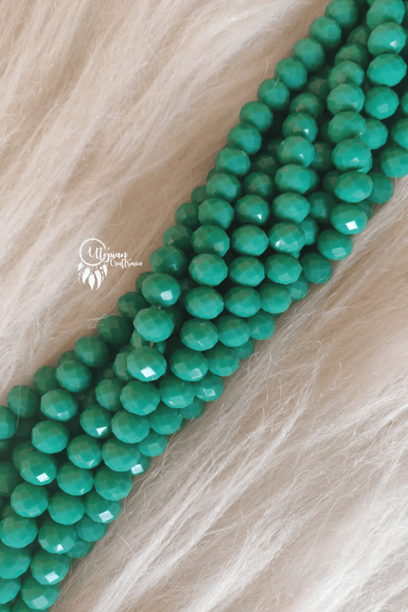 Turquoise Colour 10mm Faceted Opaque Beads