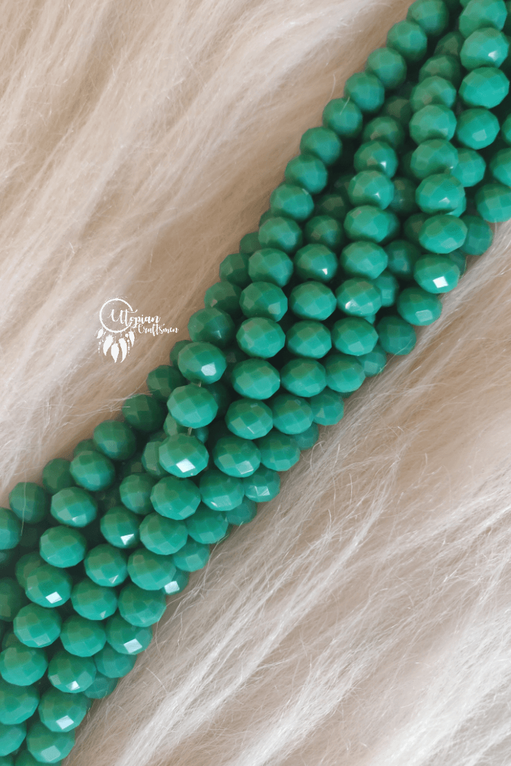 Turquoise Colour 10mm Faceted Opaque Beads -Approx 60 Pcs - Utopian Craftsmen