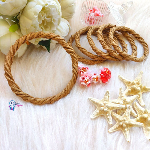 1 Pc Rope Wreath Rings, 6 inches Circular - Natural Brown Colour