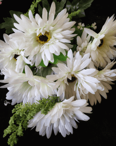 White Colour Gerbera Artificial Flowers online for Crafts, Home Decor and Wedding Decor