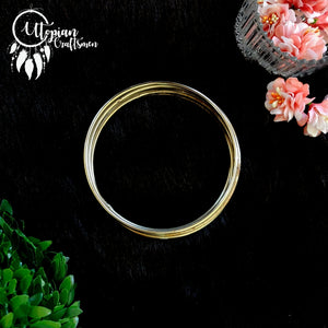 Set of 5 Pieces, 3.5 inches Circular Steel Hoop/Ring - Utopian Craftsmen