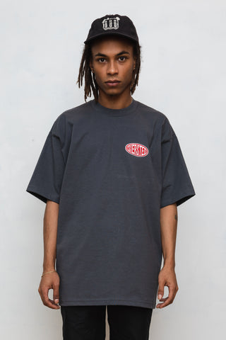 SIERSTED, Charcoal/Red Signature Logo Tee
