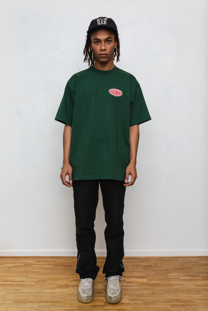 SIERSTED, Forest Green/Red Signature Logo Tee