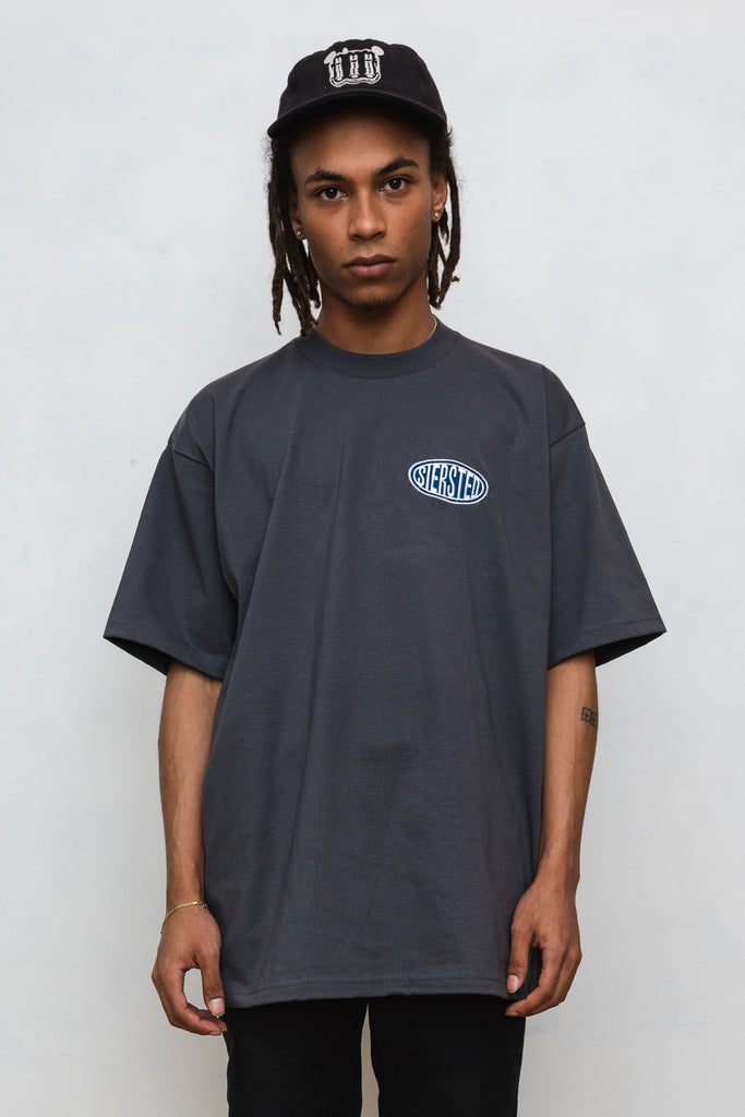 SIERSTED, Charcoal/Blue Signature Logo Tee
