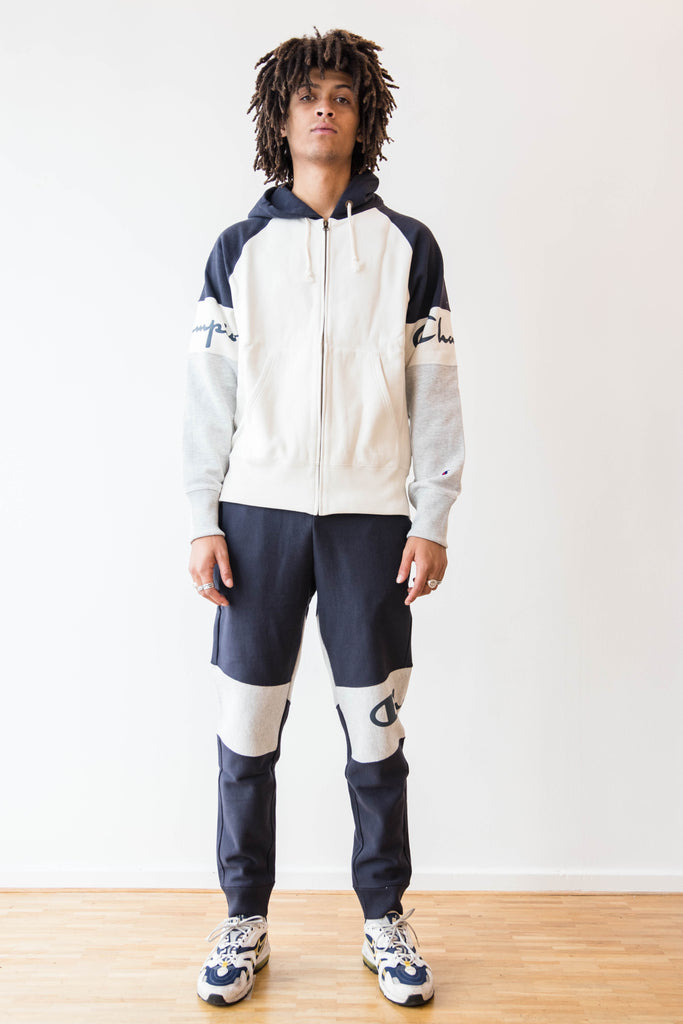 CHAMPION, NAVY PANNEL JOGGERS