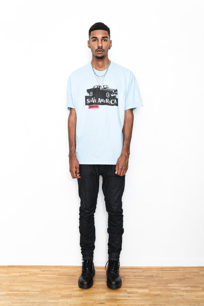 SIERSTED, Save America Oversized Baby Blue Tee