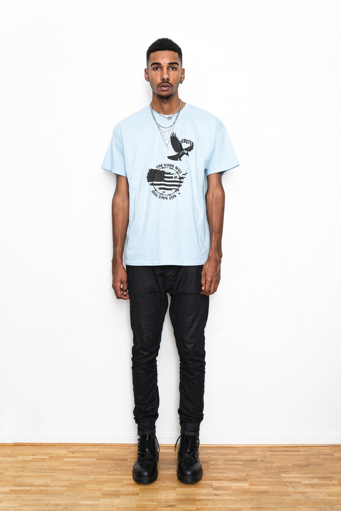 SIERSTED, The Gods Will Not Save You Oversized Baby Blue Tee