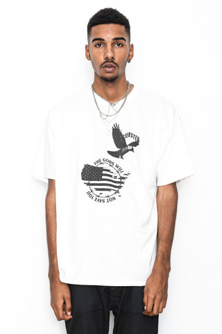 SIERSTED, The Gods Will Not Save You Oversized White Tee