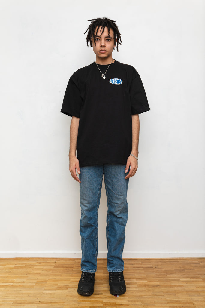 SIERSTED, Black/Blue Signature Logo tee