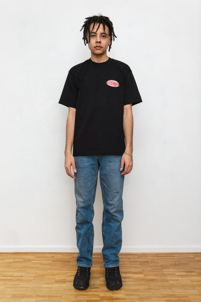 SIERSTED, Black/Red Signature Logo Tee