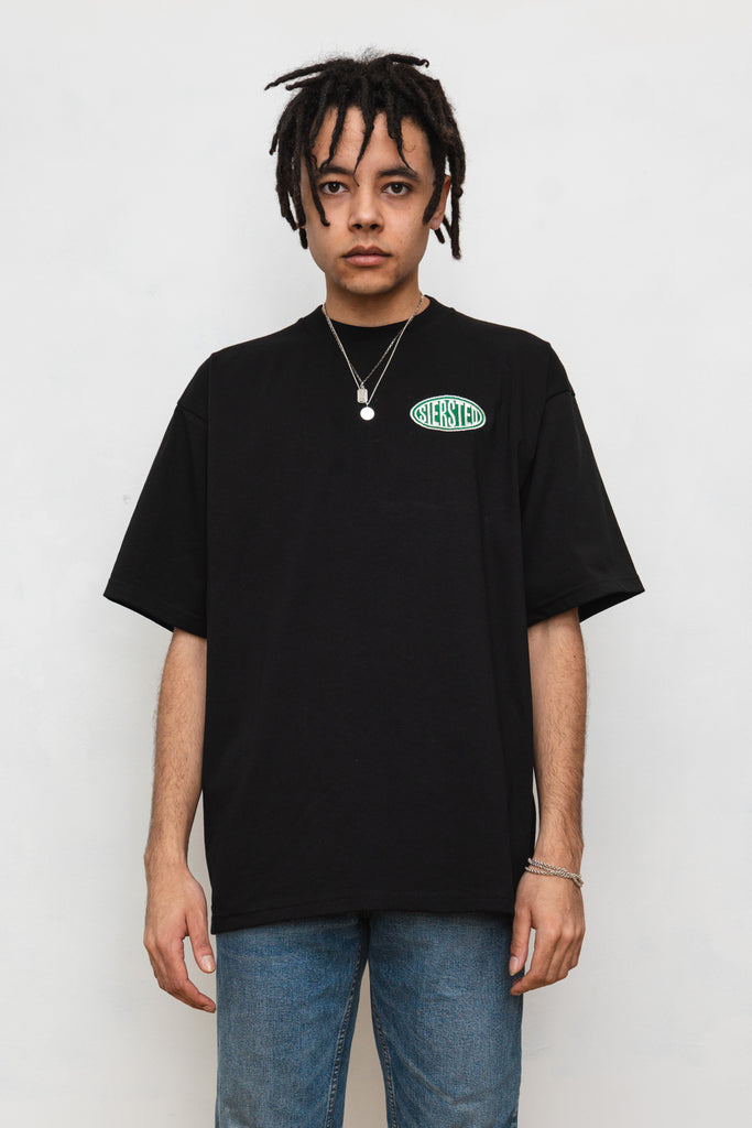 SIERSTED, Black/Green Signature Logo tee