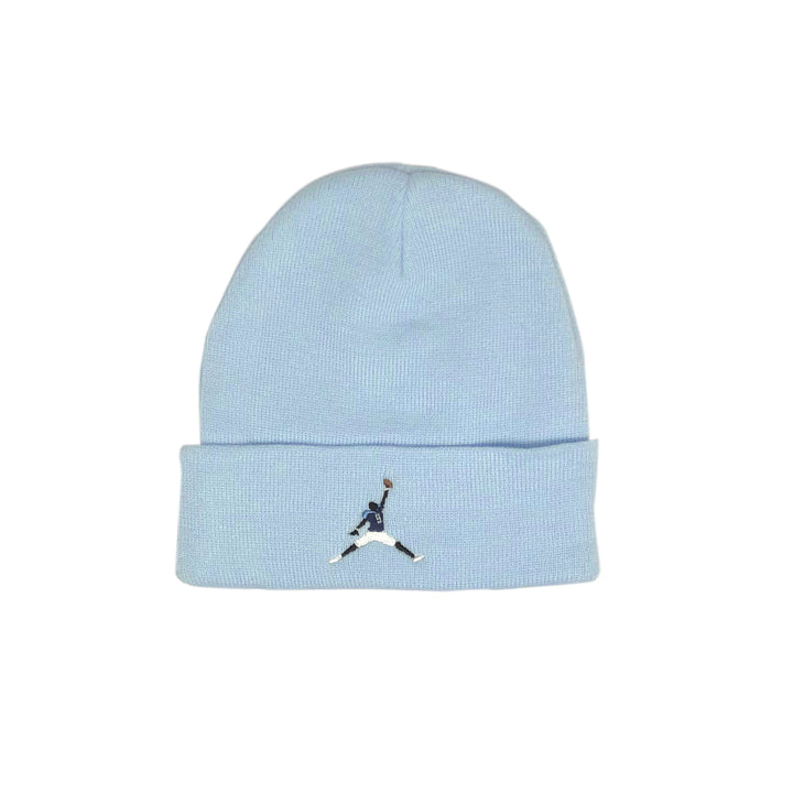 Air McNair embroidered baby blue acrylic beanie