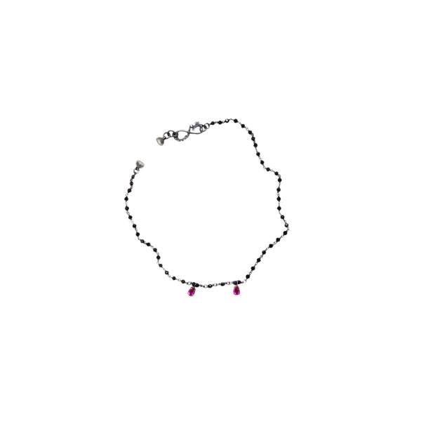 "Necklace ""Vampire Bite"" with Spinel and Ruby"