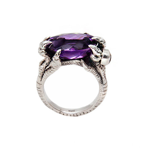 """The Dragon Mother"" ring with Amethyst"