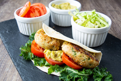 Brilliant fish recipe for kids – cod burger wraps
