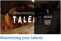 Maximizing your Talents