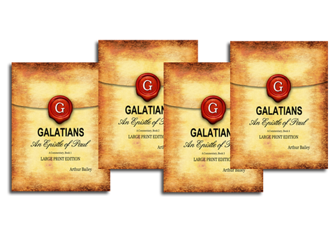 GALATIANS (LARGE PRINT) COMMENTARY COMPLETE 4 VOLUME SET