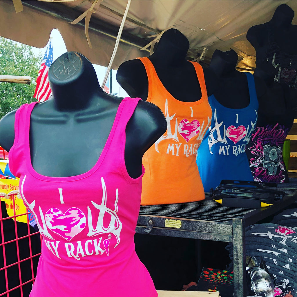 I Love My Rack Tank Top - Pink Rack Project