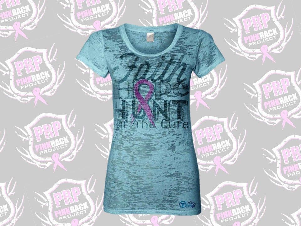 Faith, Hope, Hunt Burnout Tee - Pink Rack Project