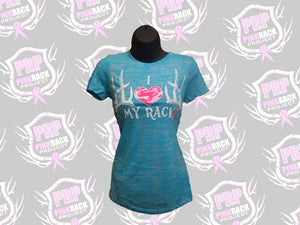 I Love My Rack Burnout Tee - Pink Rack Project