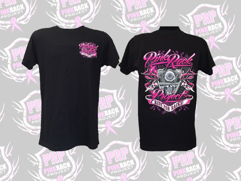 Ride For Racks Unisex Tee - Pink Rack Project