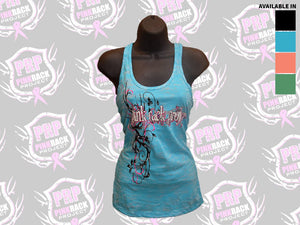Twisted Antler Burnout Tank Top - Pink Rack Project