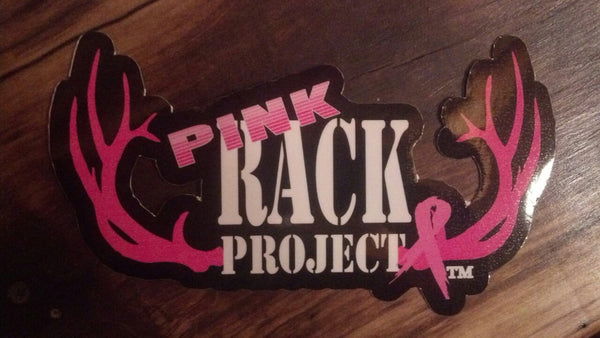Pink Rack Project 4 X 8 Inch Decal - Pink Rack Project