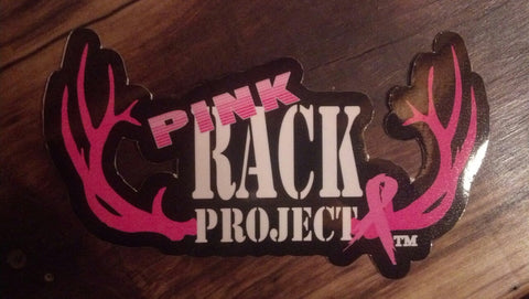 Pink Rack Project 4 X 8 Inch Decal