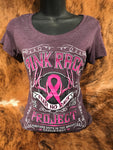 Whiskey Rack Womens Fitted Tee - Pink Rack Project