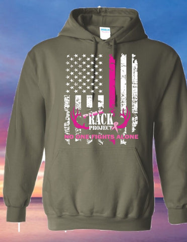 Patriotic Flag Breast Cancer Awareness Hoodie